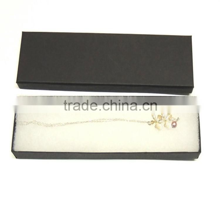 custom logo printing cardboard packaging paper box magnetic necklace gift box for jewelry wholesales
