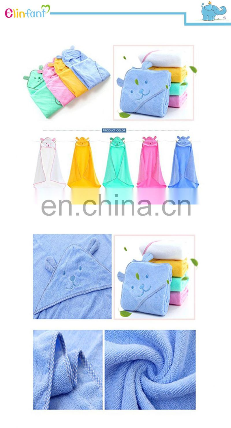 2017 hot sale soft high absorbent 100% cotton hooded baby bath towel