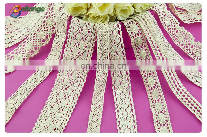 100% Cotton material unique design colorful custom lace for curtains