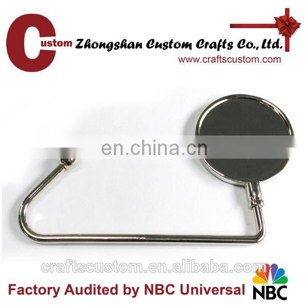 High Quality Zinc Alloy Material table top bag hanger