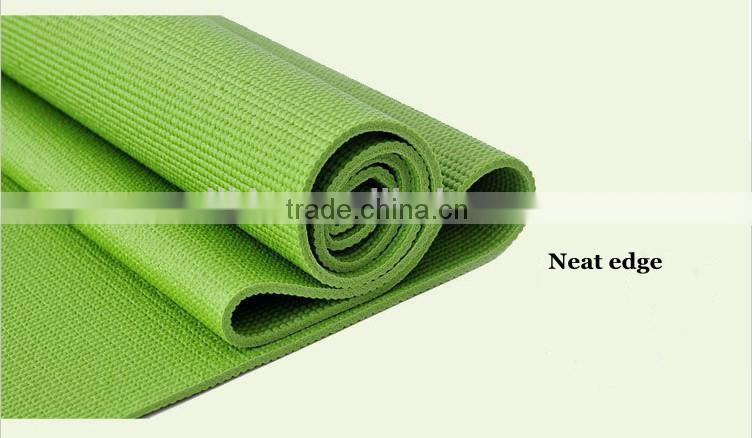 High Density Exercise Yoga Mat with Comfort PVC Foam and Carrying Straps
