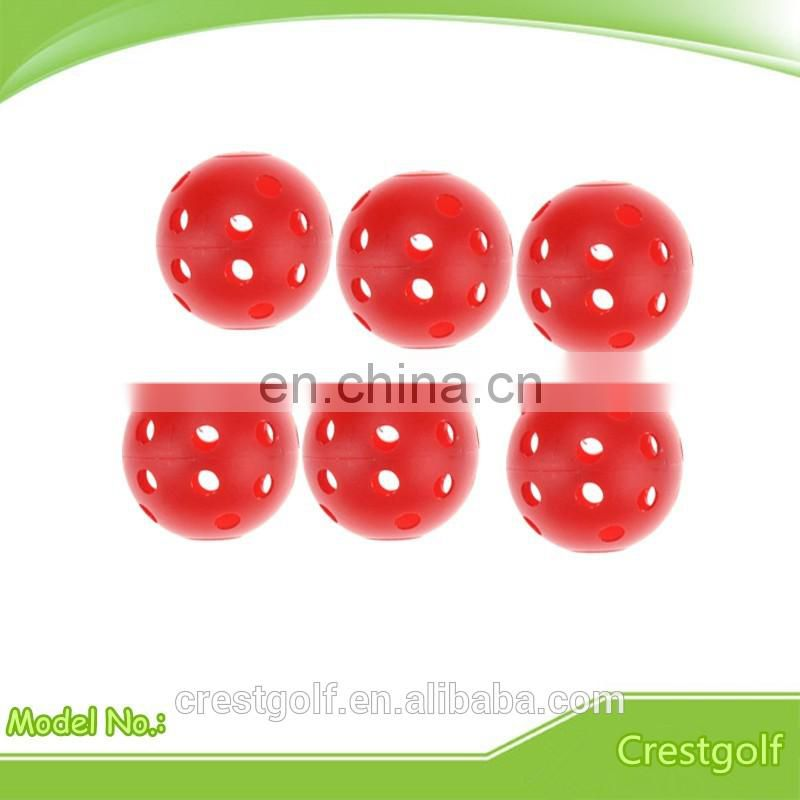 Diameter 42mm/70mm/90mm Plastic Golf Ball with 26 holes