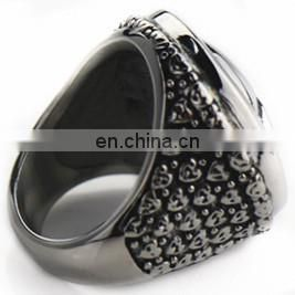 2014 fashion stainless steel rings with pattern design
