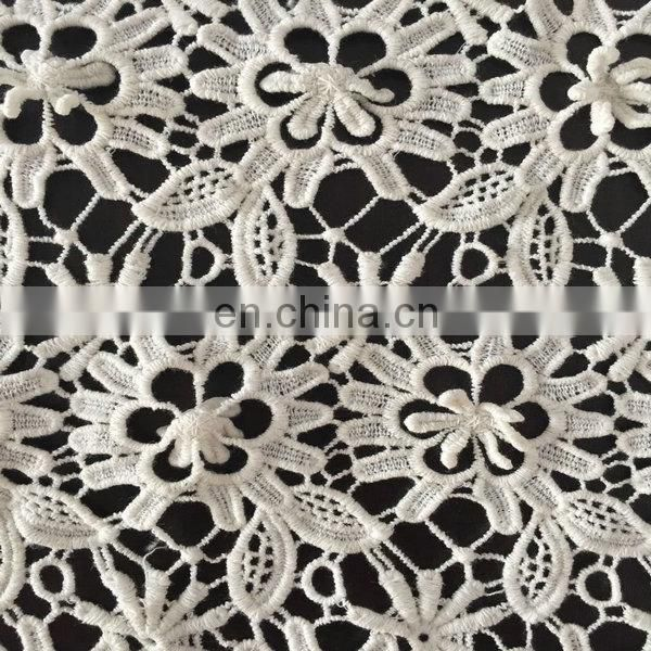 wholesale embroidery chemical cotton lace fabric for garment
