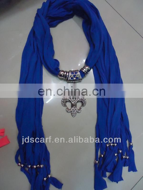scarf necklaces super thin 100% polyester scarf necklaces