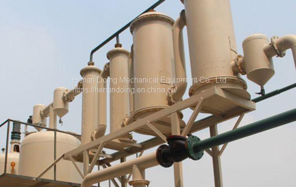 Crude oil refining process plant of Waste oil distillation