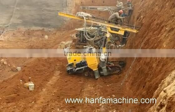 used for rock bolts & soil nails! high efficient, crawler mounted HF140Y bore pile drilling machine