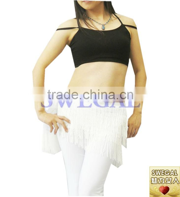 SWEGAL 2013 2colors black and white women fashion sex belly dance top practice top dress