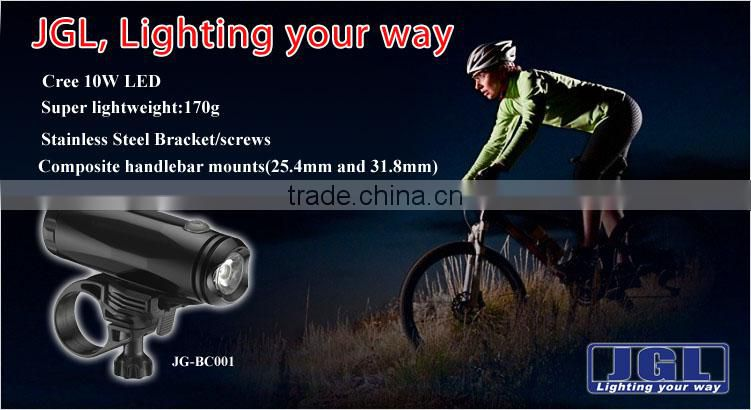 5JG-BC001 usb bike light easy installation 10w led bike front light