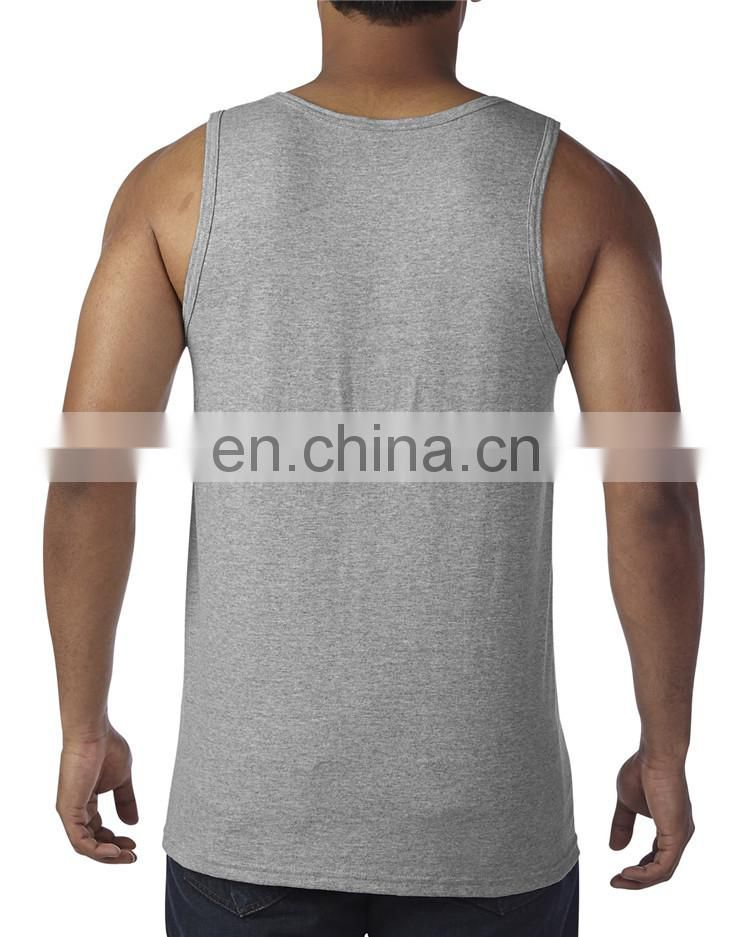 Factory supply custom printing stringer tank tops for men