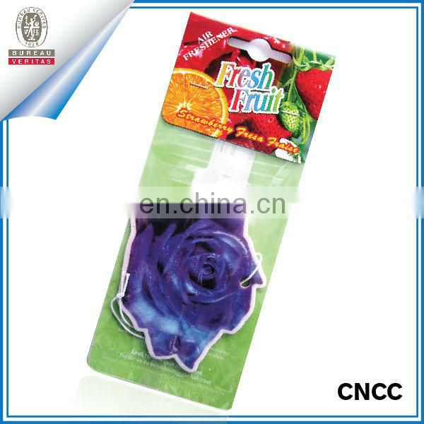 Paper car air freshener in different fragrance