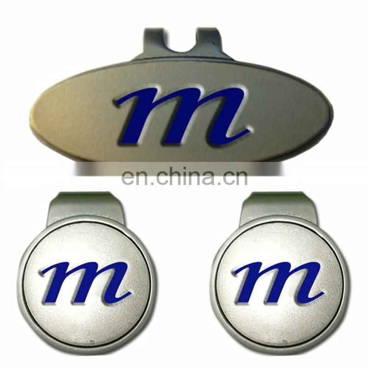 Hot selling customized magnetic goft hat clip golf ball marker