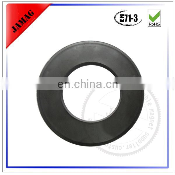 Custom size ferrite countersunk ring magnet for sale