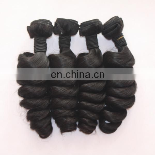 Virgin indian hair double weft top quality soft indian virgin hair thick bundles
