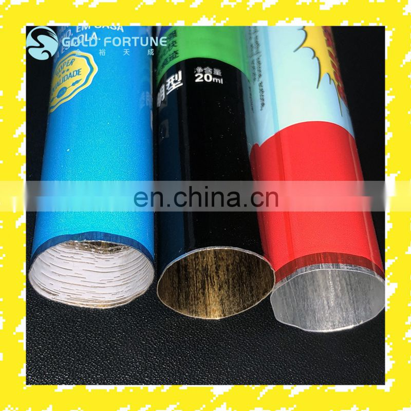 D16mm Mini Metal Tubes For Hand Cream Cosmetics Aluminum Tube Packaging 5-10ml With Star Anise Screw Cap