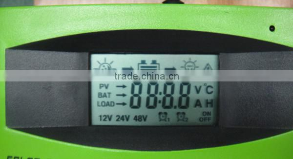 automatic 12v/24v solar panel voltage regulator 30a 40a 50a 60a