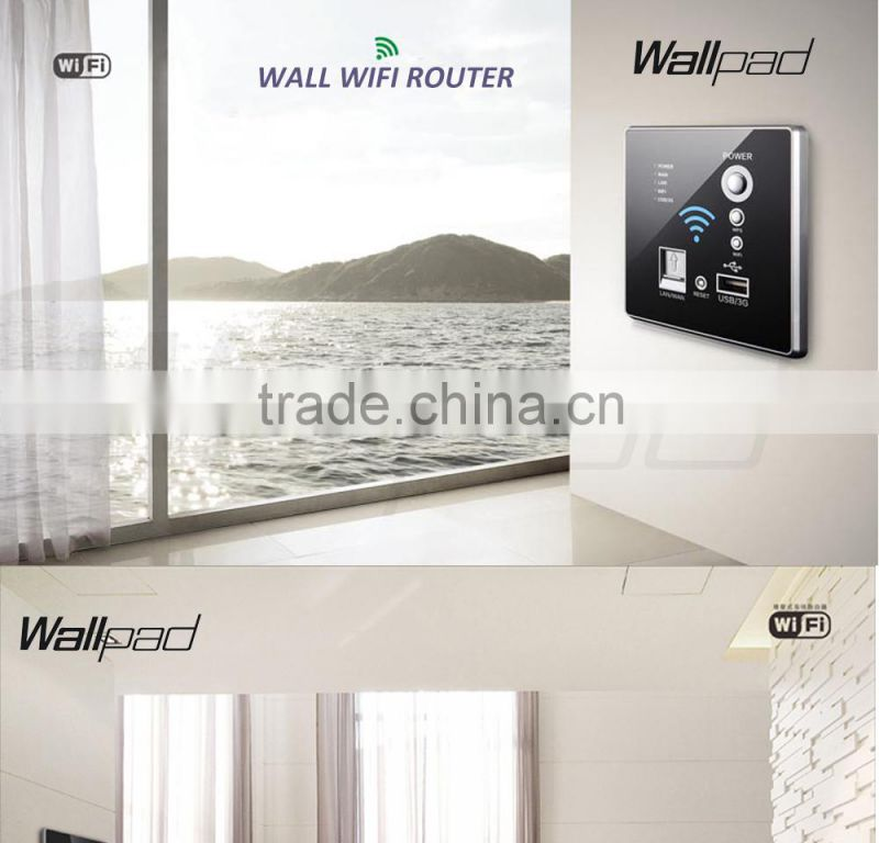 Hot Design Wallpad White Wall Embedded USB Socket Wireless AP Router Repeater Phone WPS Wall Charger USB 3G WiFi Smart Socket