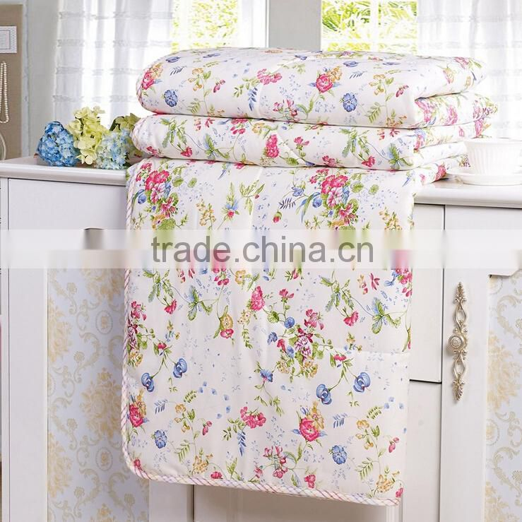 Hot sale hand embroidered reversible quilt cotton quilt kids quilt throw bed cover