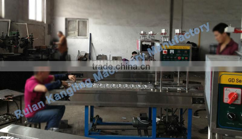 QCF series Filling and Sealing Machine 4 cups inline