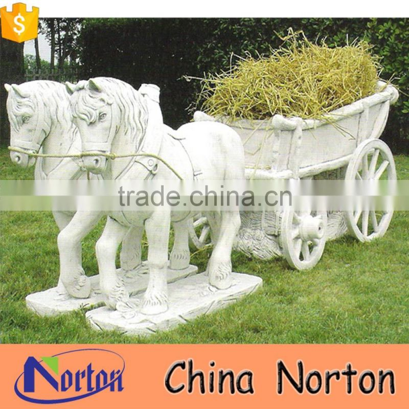 natural stone carving gharry sculpture planters NTBM-H021X