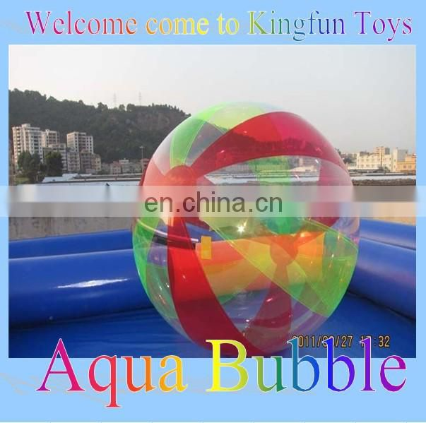 Colored inflatable bumper football/soccer bubble