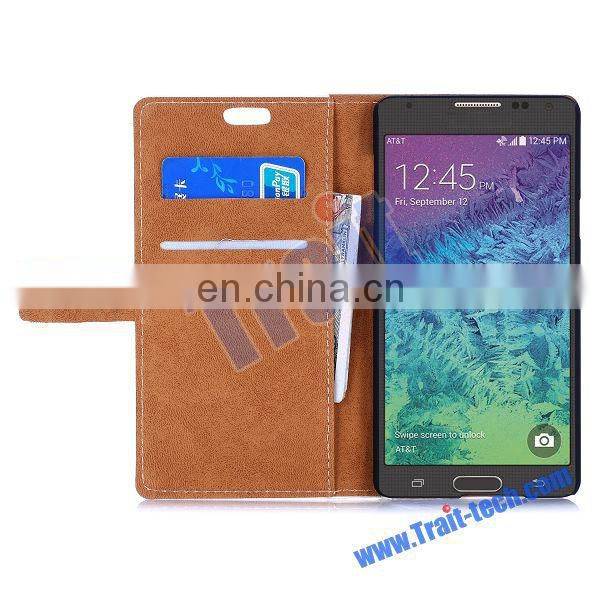 2015 new fashion Wallet Style Flip Stand gril style Leather Case for Samsung Galaxy A7,Phone Leather Case