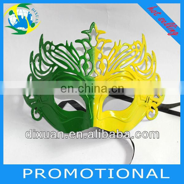 New-hot Plastic Butterfly Masks/Party Masks/Brazil Plastic Masks for 2014