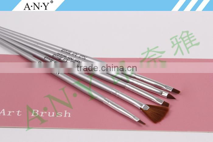 ANY Wood Handle 5 PCS Pen Set For Nail Art Design