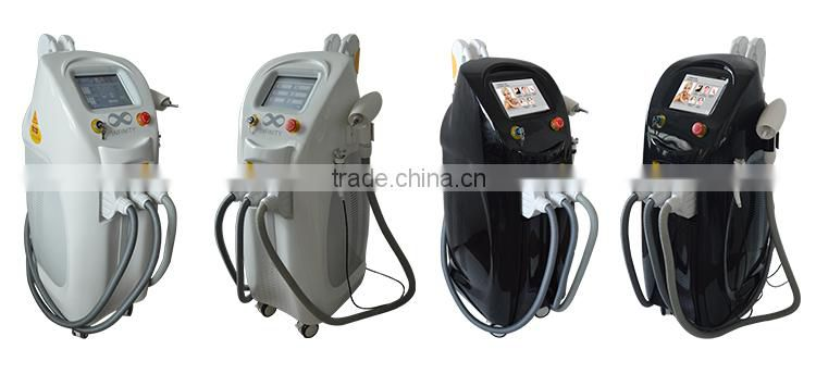 2017 Hot sale 4 in 1 beauty equipment with Elight SHR IPL RF Q switched nd yag laser