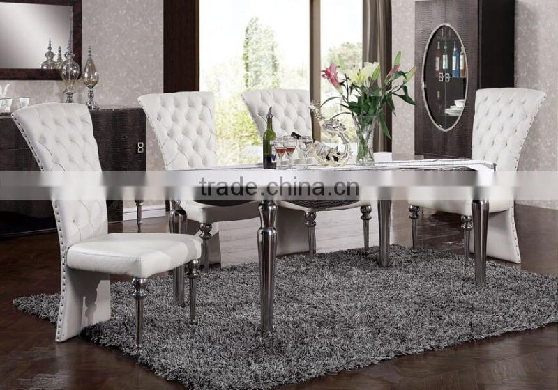 glass top dining table and chair/home furniture dining room table