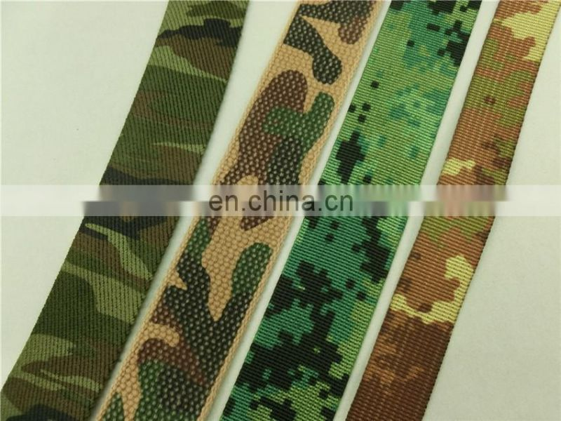 4.9 cm resistant UV camouflage military polyester ribbon