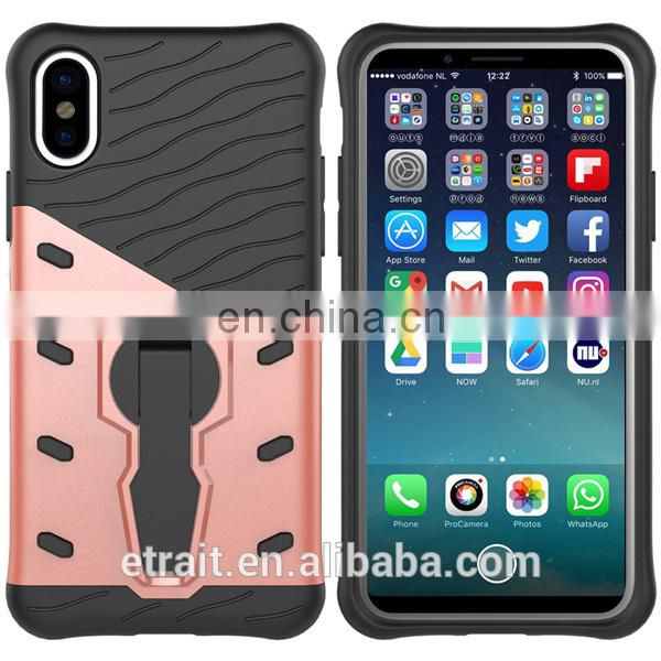 Hybrid 2 in 1 wholesale TPU phone case for iPhone 8, back cover with low price for iPhone 8