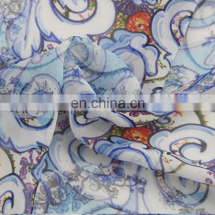 Auspicious Clouds 100% Pure Silk Price Digital Printing Fabric