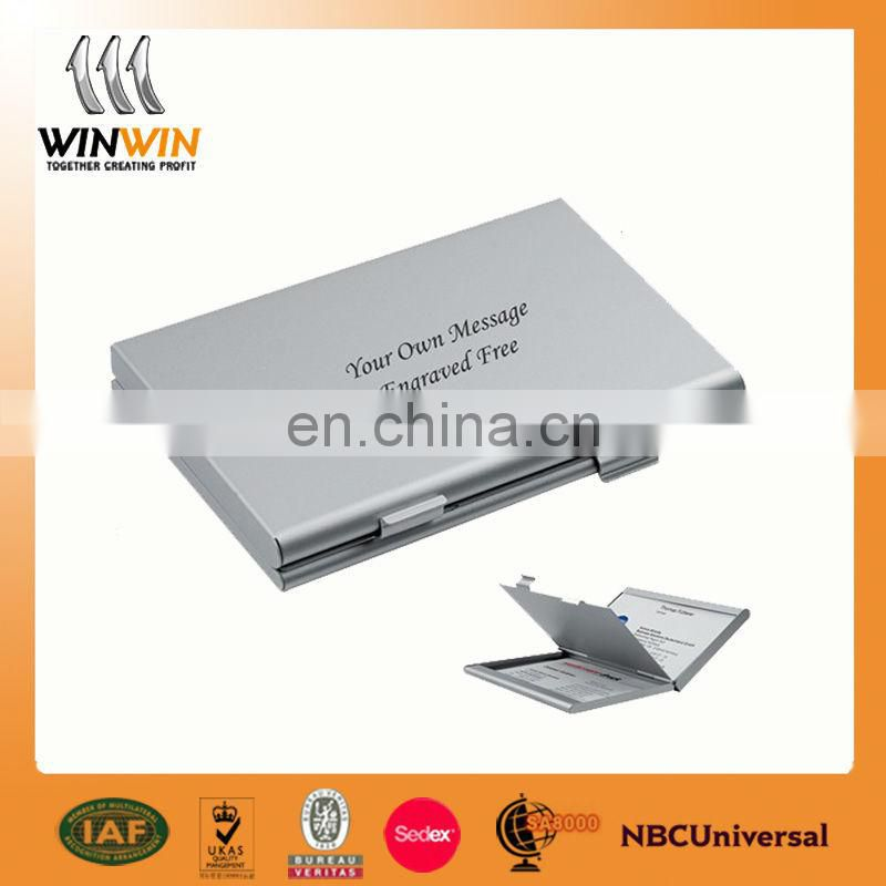 Blank card holder/aluminum name card holder/printing logo business card case