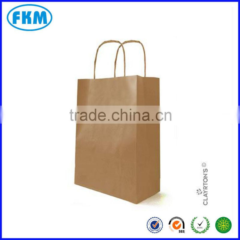 Hand Length Handle Sealing & Handle and Paper Material custom print kraft paper shopping bag