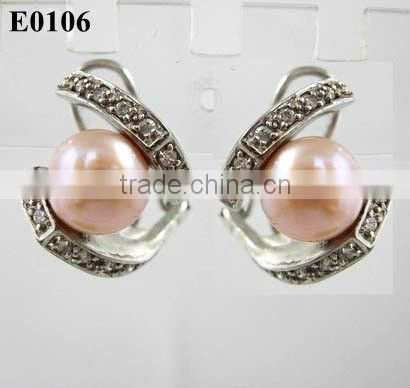 fashion large pearl stud earrings