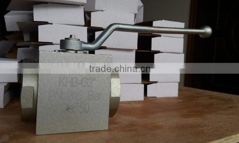 DN13 DIN 2353 tube fitting connection high pressure ball valve