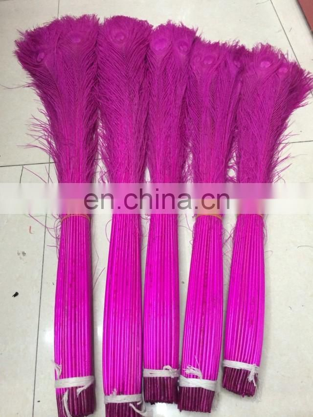 eco-friendly colored peacock feathers