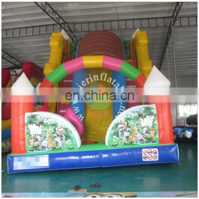 2017 Aier Guangzhou new summer promoted inflatable slides/cheap inflatable water slide for sale