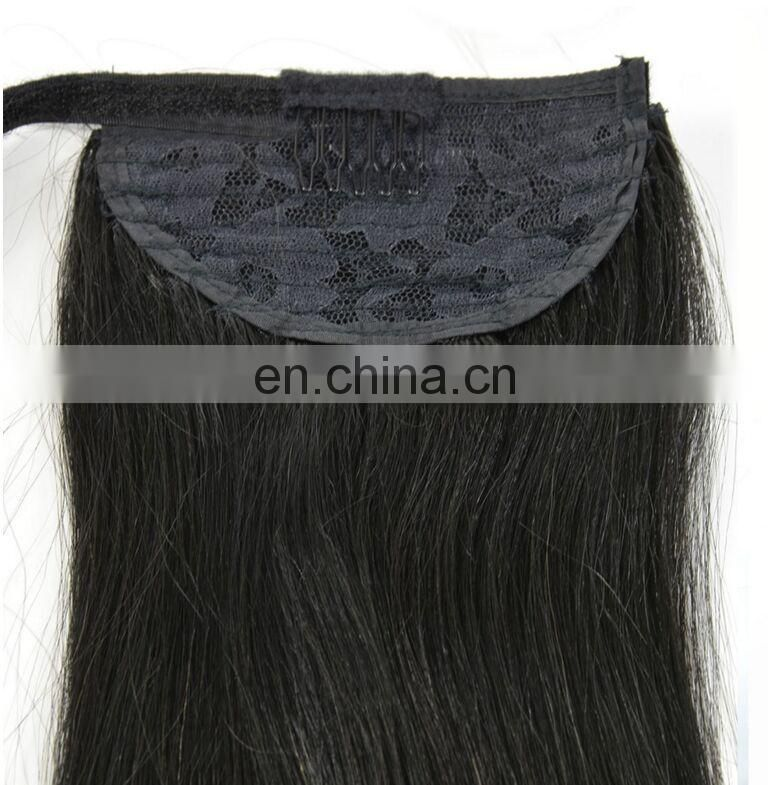 Yotchoi Hair Products Beautiful Smooth Factory Price Cheap Clip Ponytail Hair Extension