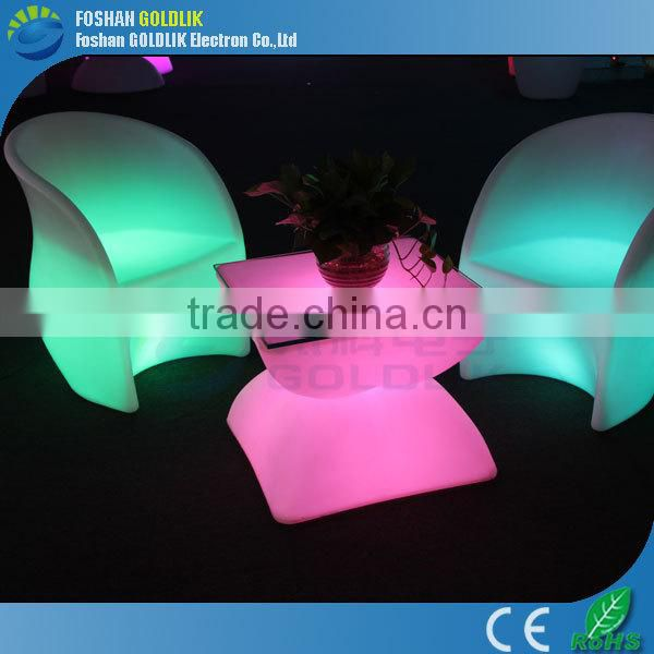 2014 Fashion Design IP65 LED Lighting Furniture, LED Table , LED Chair with Wireless Controller