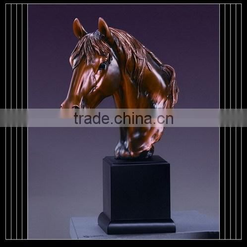 Funeral supplier brass plated horse cremation urn stand