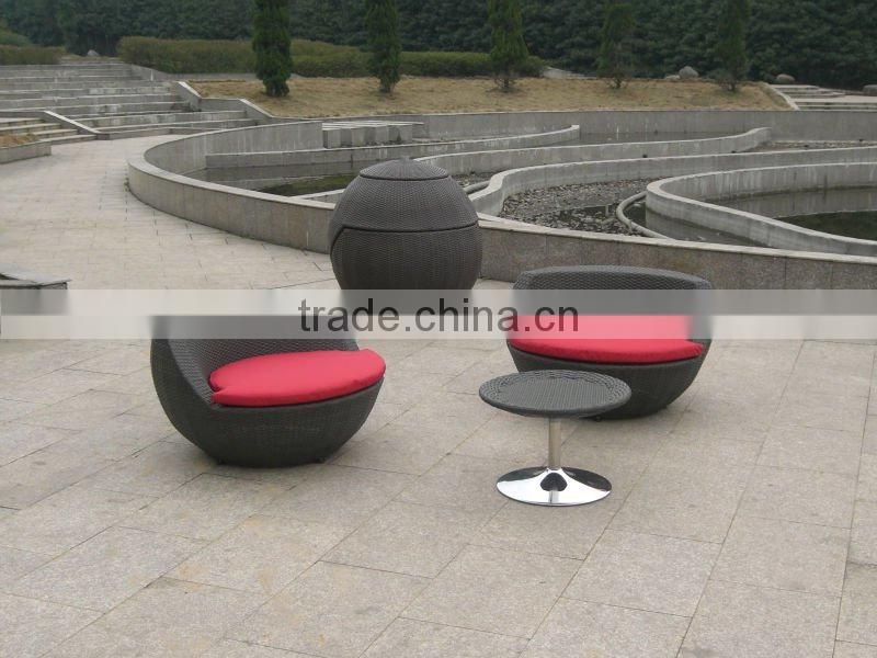 rattan coffee table and chairs for patio, yard, coffee shop