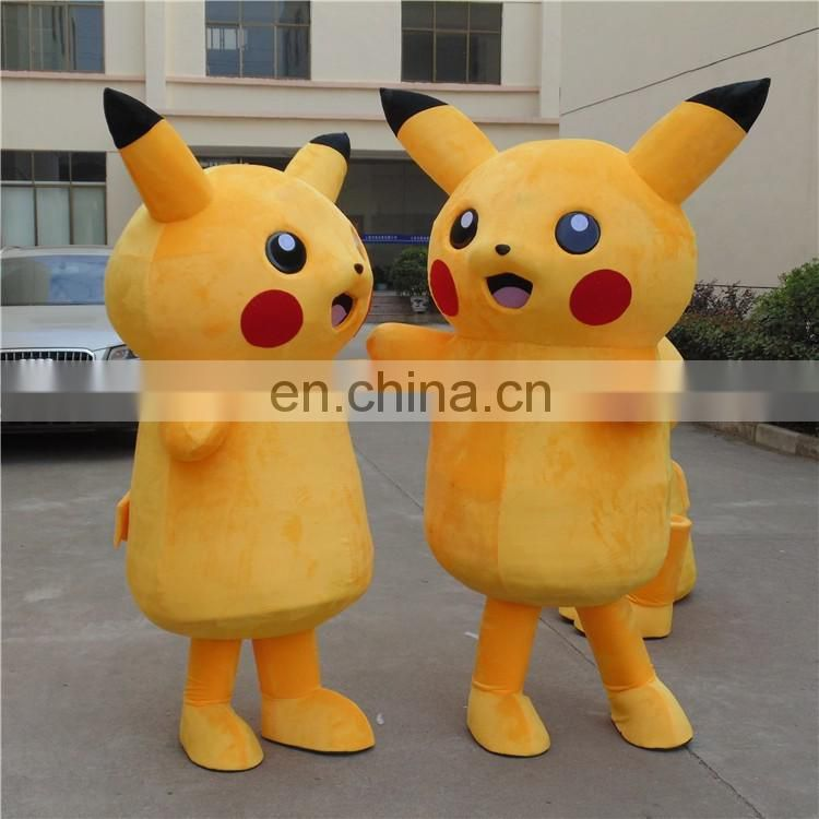 China OEM factory produced adult pikachu mascot costume