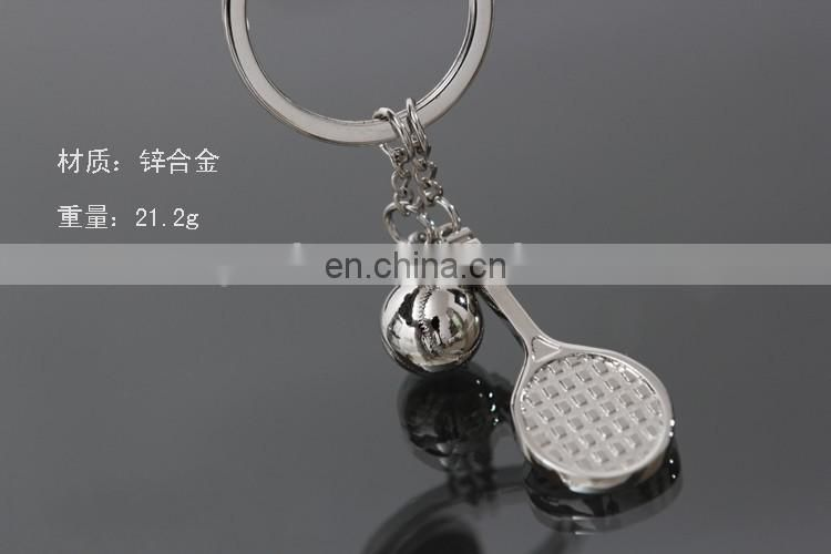 3D Sports Tennis Racket Keyring