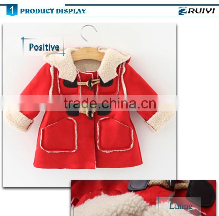 fashion girl suede winter coat, kids clothing
