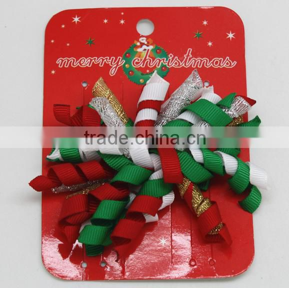 christma hairdressing hair clip design