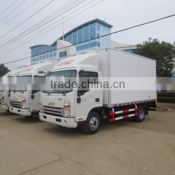 120hp New Design 4*2 JAC Refrigerated Truck 4ton