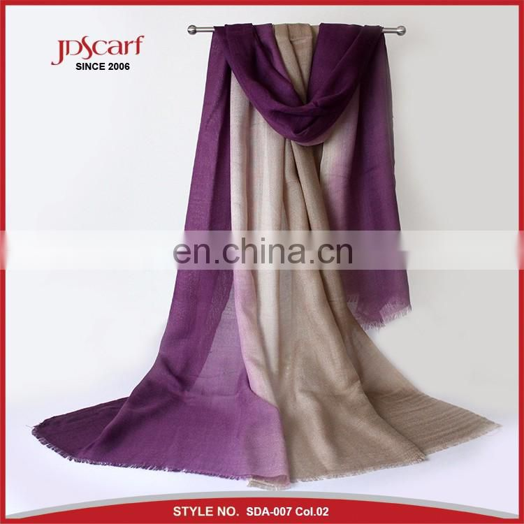 Wholesale scarf hijab fashionable cashmere feel 100% acrylic scarf for women