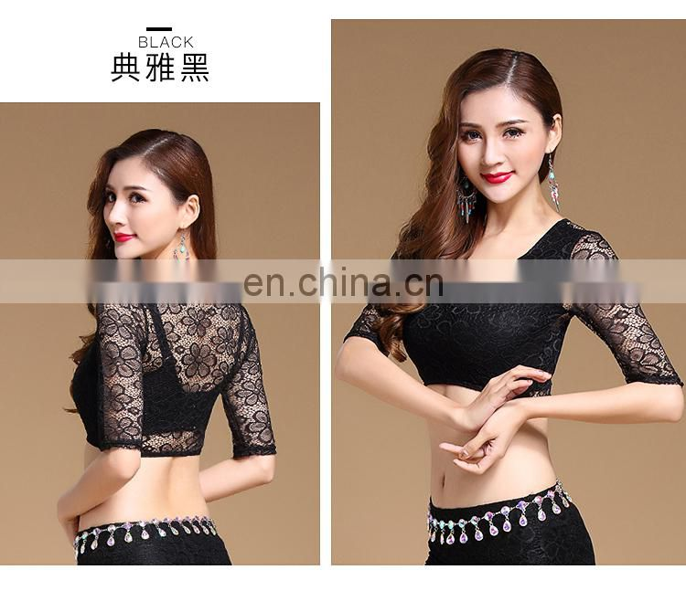 S-3119 Sexy lace material adult women belly dance top clothes